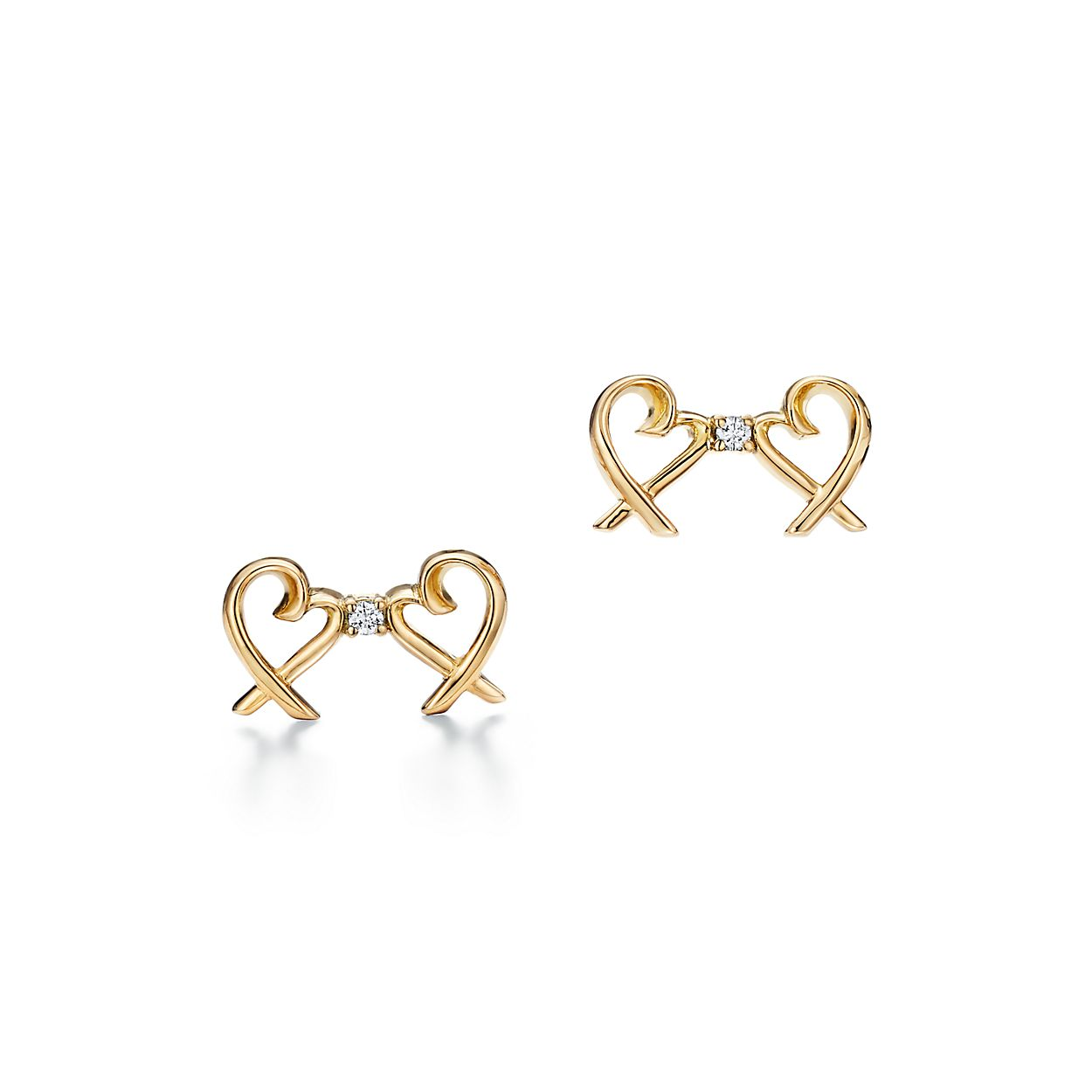 Paloma Pico Double Loving Heart Earrings