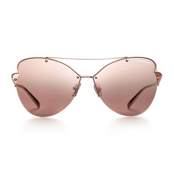190512037a Tiffany Paper Flowers butterfly sunglasses in rose gold-colored ...