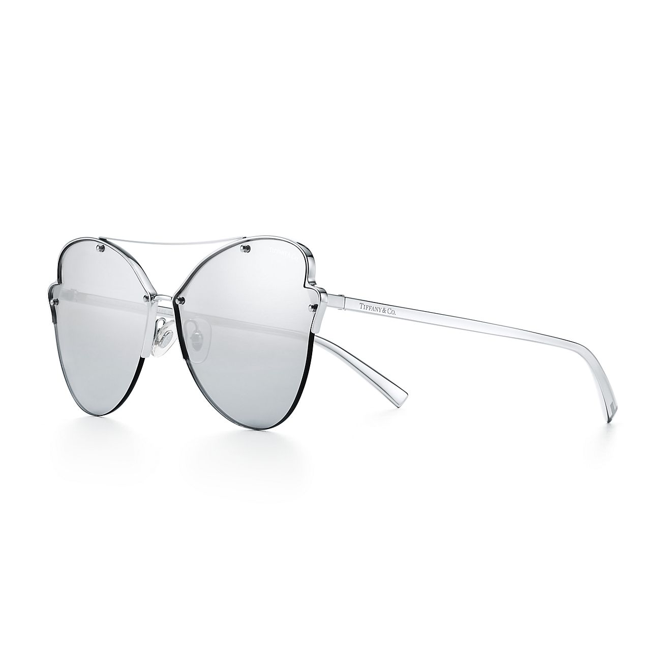 Tiffany Paper Flowers Butterfly Sunglasses In Silver Colored Metal