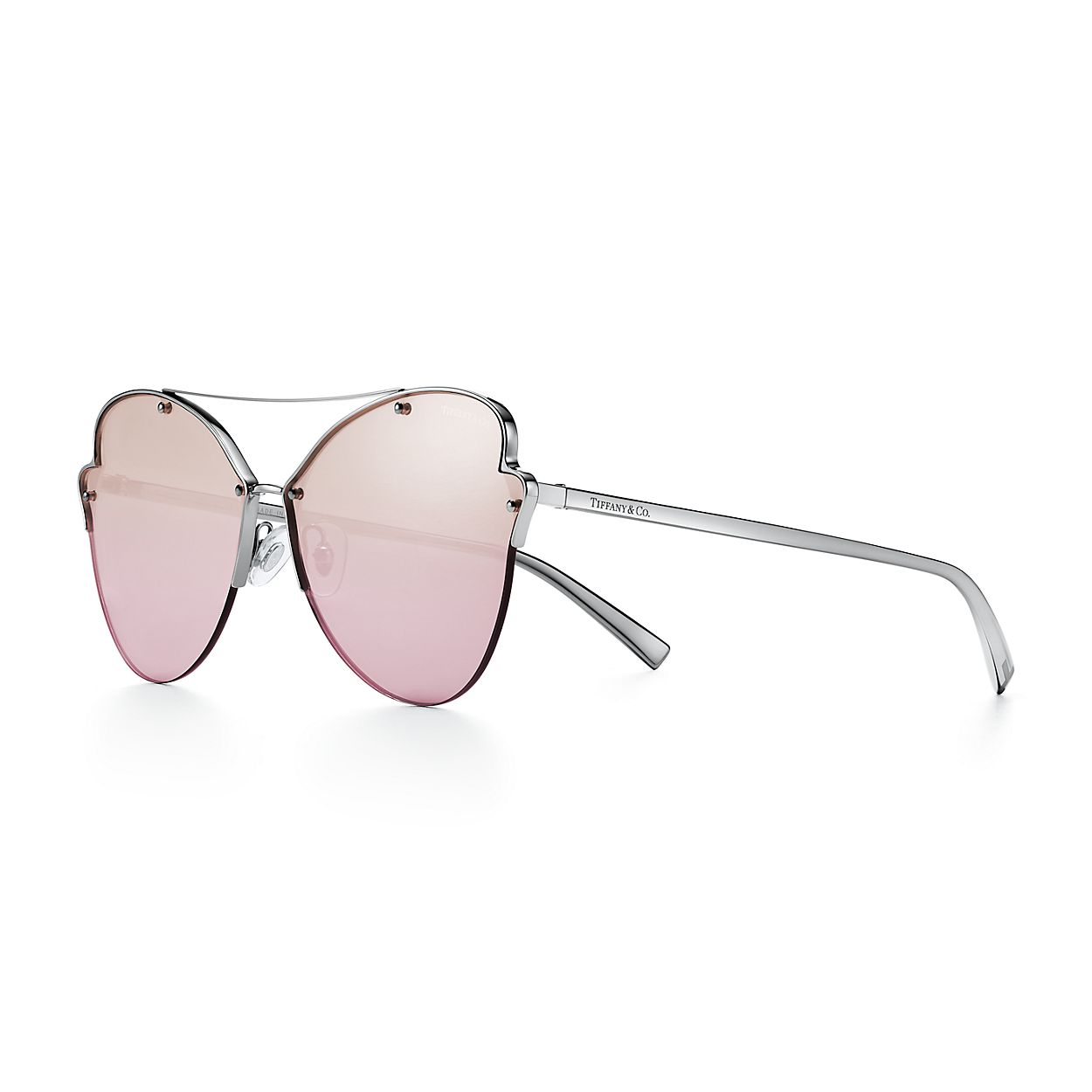 Tiffany Paper Flowers Butterfly Sonnenbrille Aus Dunklem Metall
