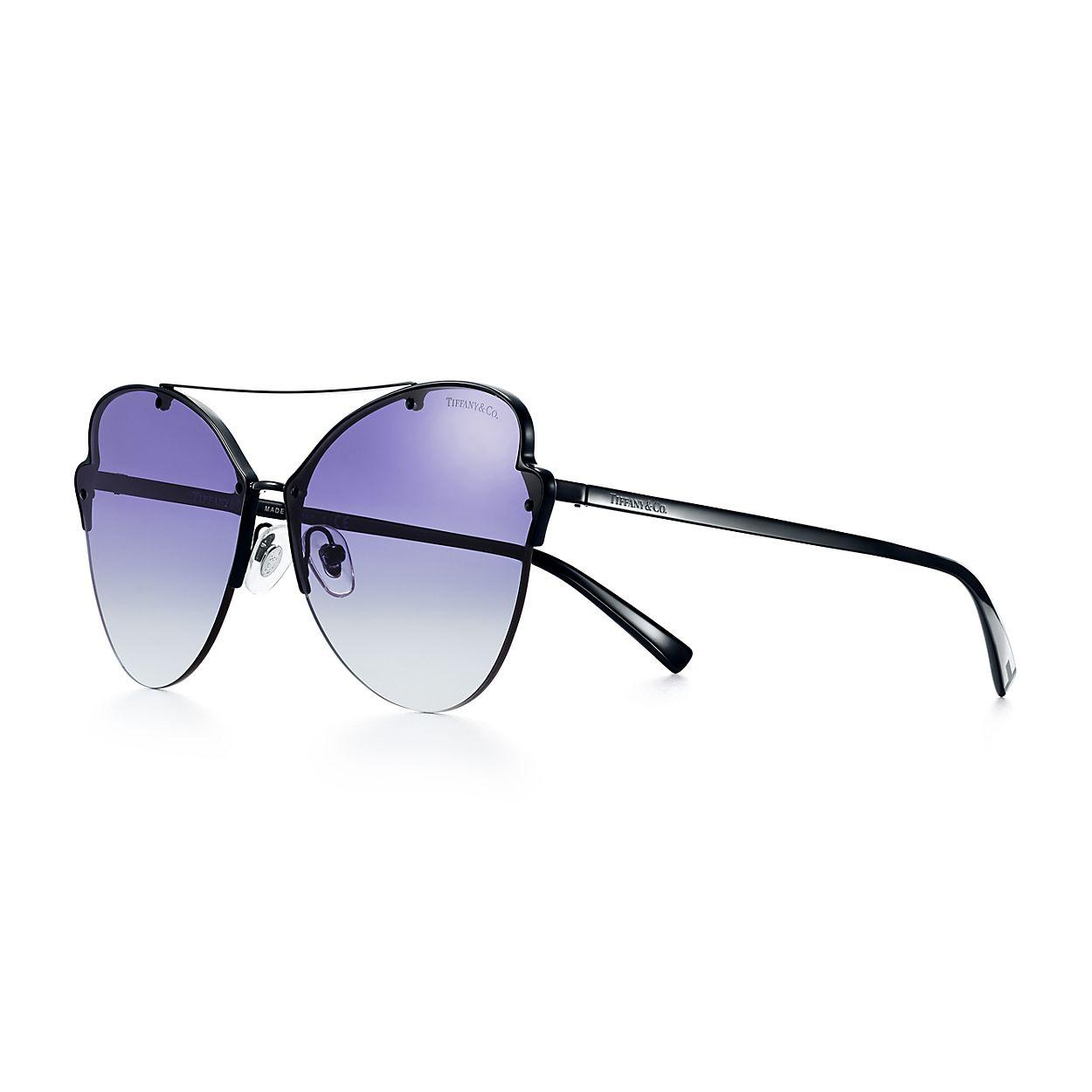 Óculos de sol estilo borboleta Tiffany Paper Flowers em metal preto ... be7d319559