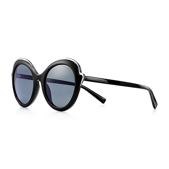 ab8efe32b Tiffany Paper Flowers cat eye sunglasses in black acetate.   Tiffany ...