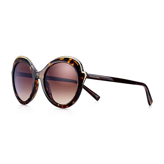 58e6afa7f Tiffany Paper Flowers cat eye sunglasses in tortoise acetate ...