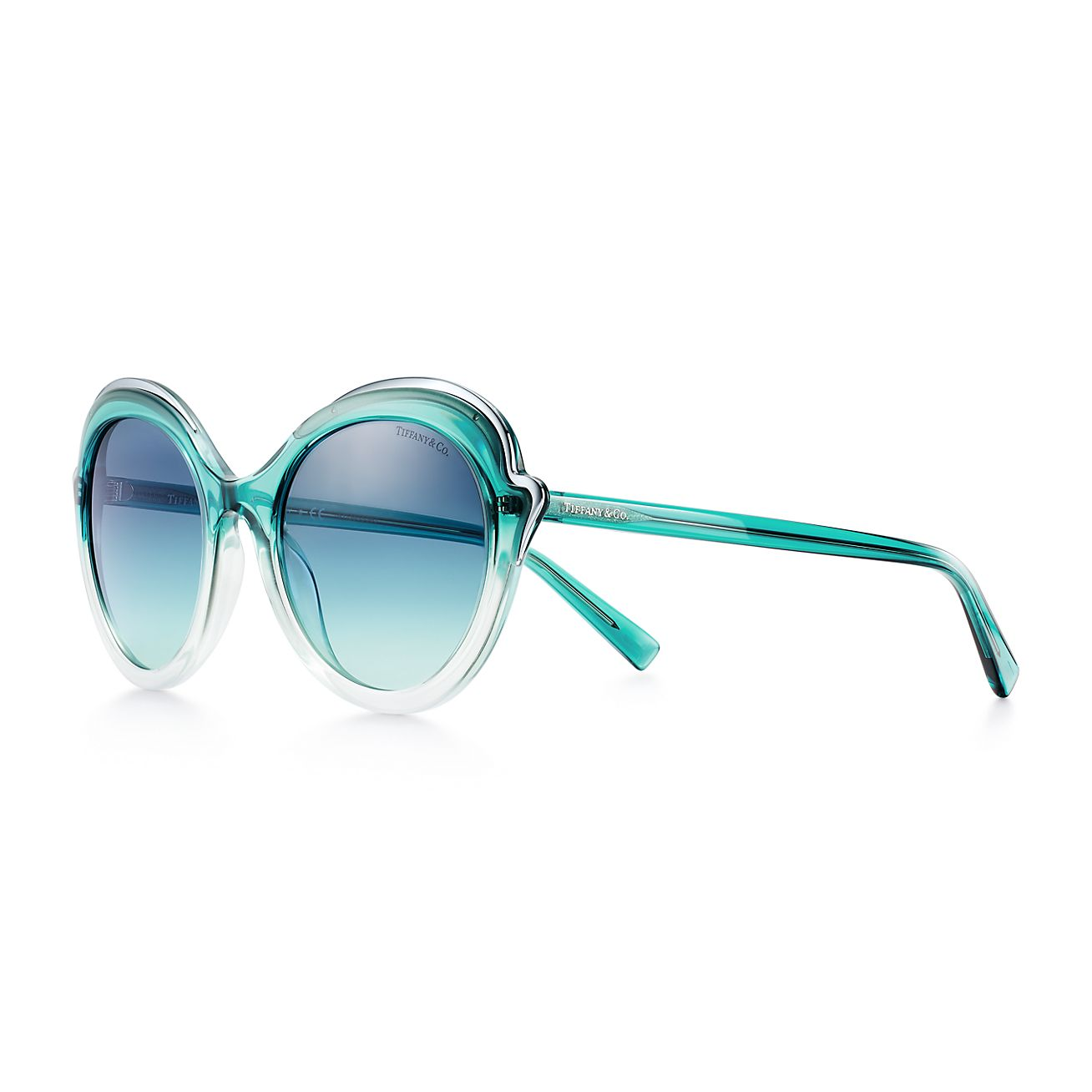 Tiffany Paper Flowers Cat Eye Sunglasses In Blue Acetate Tiffany