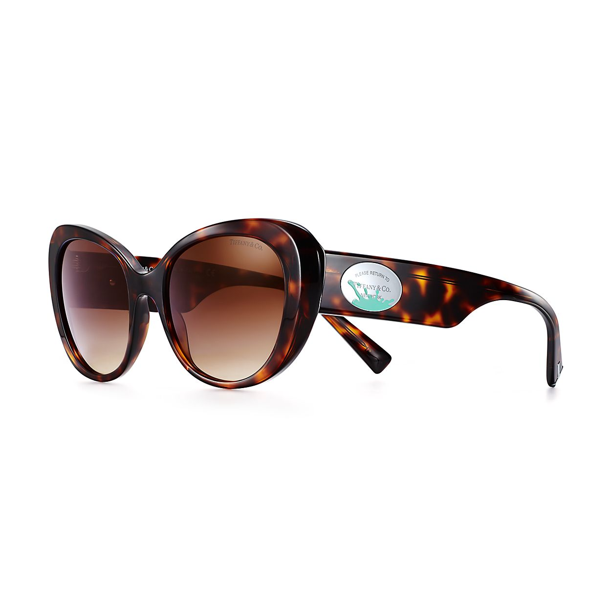 cb63887702d Return to Tiffany® Color Splash oval sunglasses in tortoise acetate ...