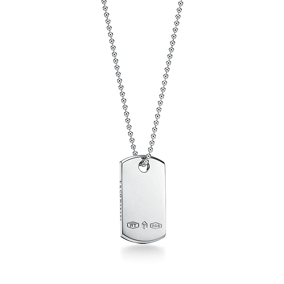 """Tiffany 1837®        Makers I.D. Tag Pendant In Sterling Silver, 24"""" by Tiffany 1837®"""