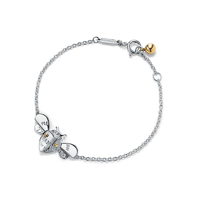 f8eef58a04db0 Bee Chain Bracelet in Sterling Silver and 18k Gold