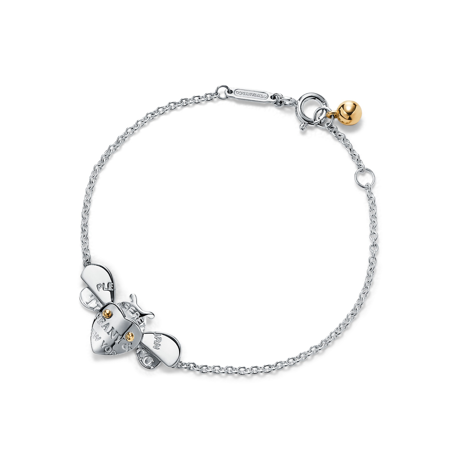 Return To Tiffany® Love Bugs        Bee Chain Bracelet In Sterling Silver And 18k Gold by Return To Tiffany® Love Bugs