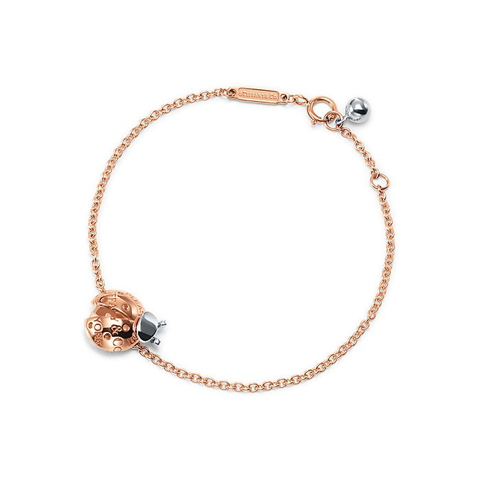 424dd88cc Return to Tiffany® Love Bugs:Ladybug Chain Bracelet in 18k Rose Gold and  Sterling ...