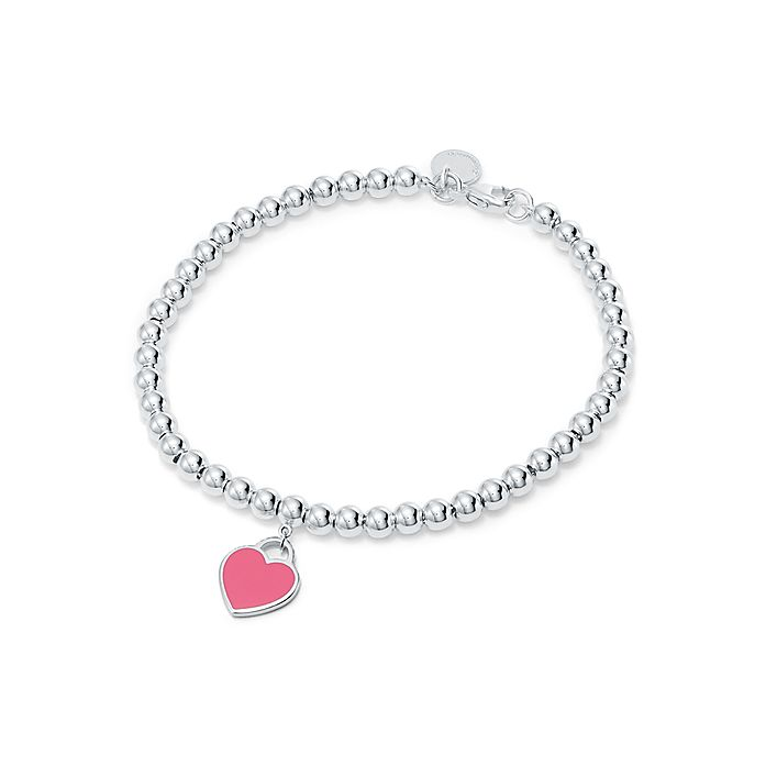 8ce1b9748 Return to Tiffany® mini heart tag in sterling silver on a bead ...