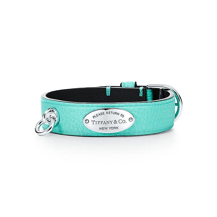 d939ca636 Return to Tiffany® narrow leather bracelet in Tiffany Blue® with ...
