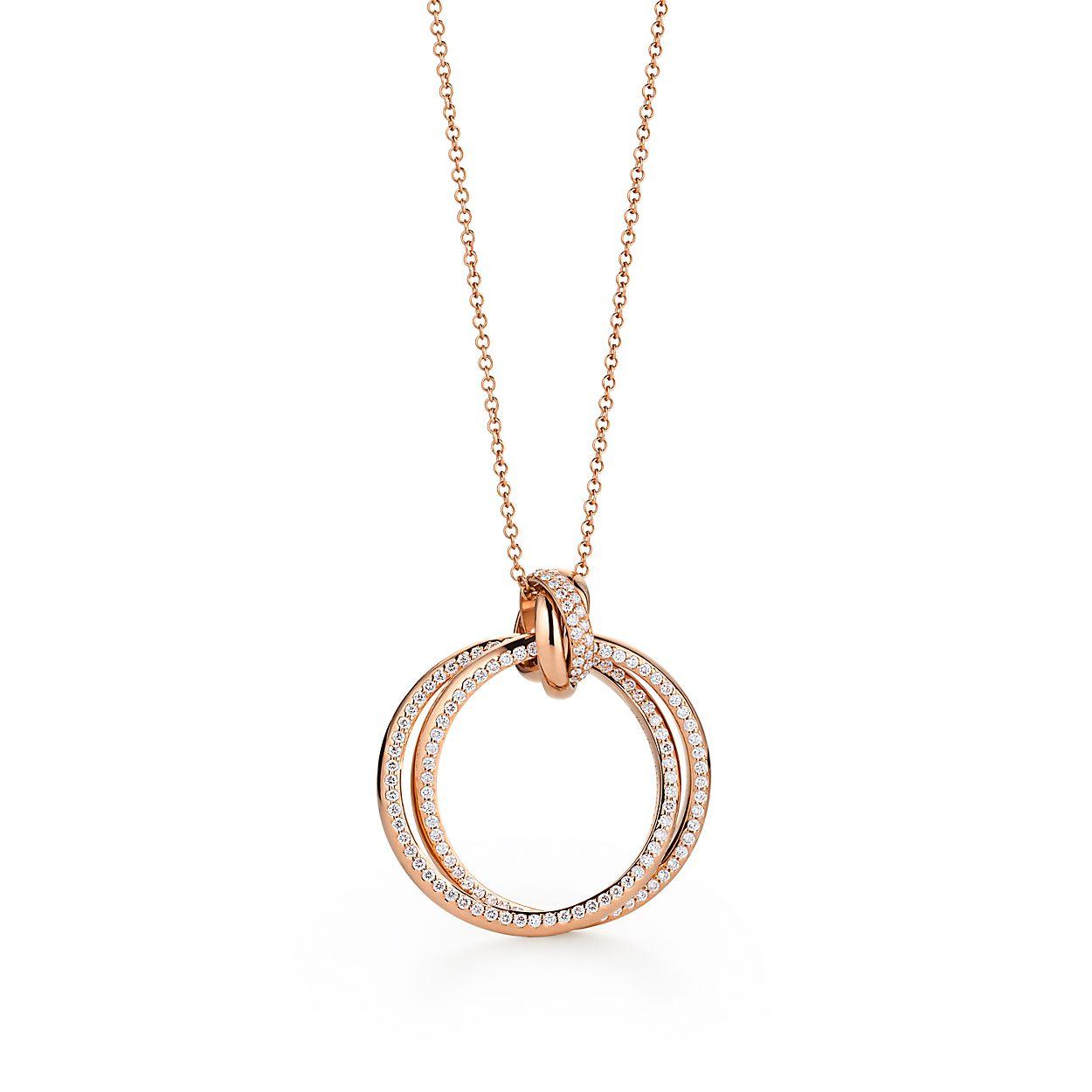 Pendentif Cercle Paloma s Melody en or rose 18 carats et diamants ... 20ce8945ef64
