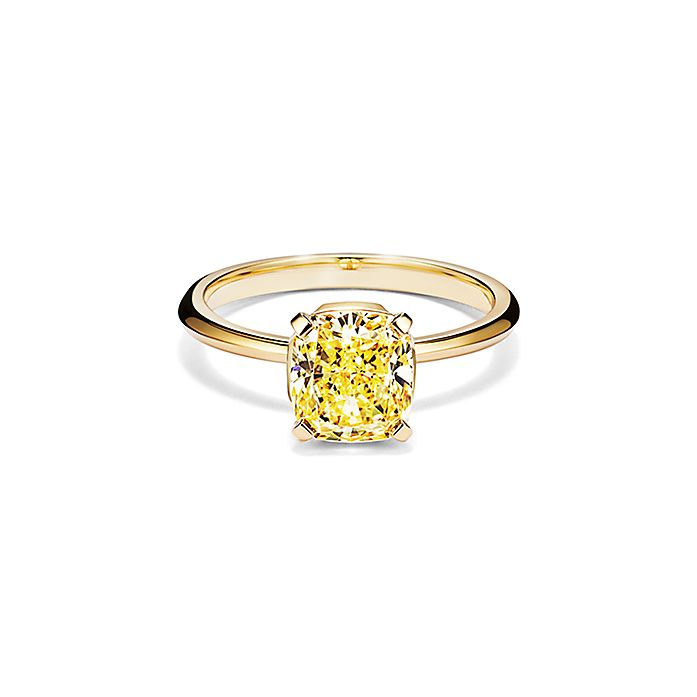 82d912f32f8 Tiffany True Engagement Ring with a Cushion-cut Yellow Diamond in ...