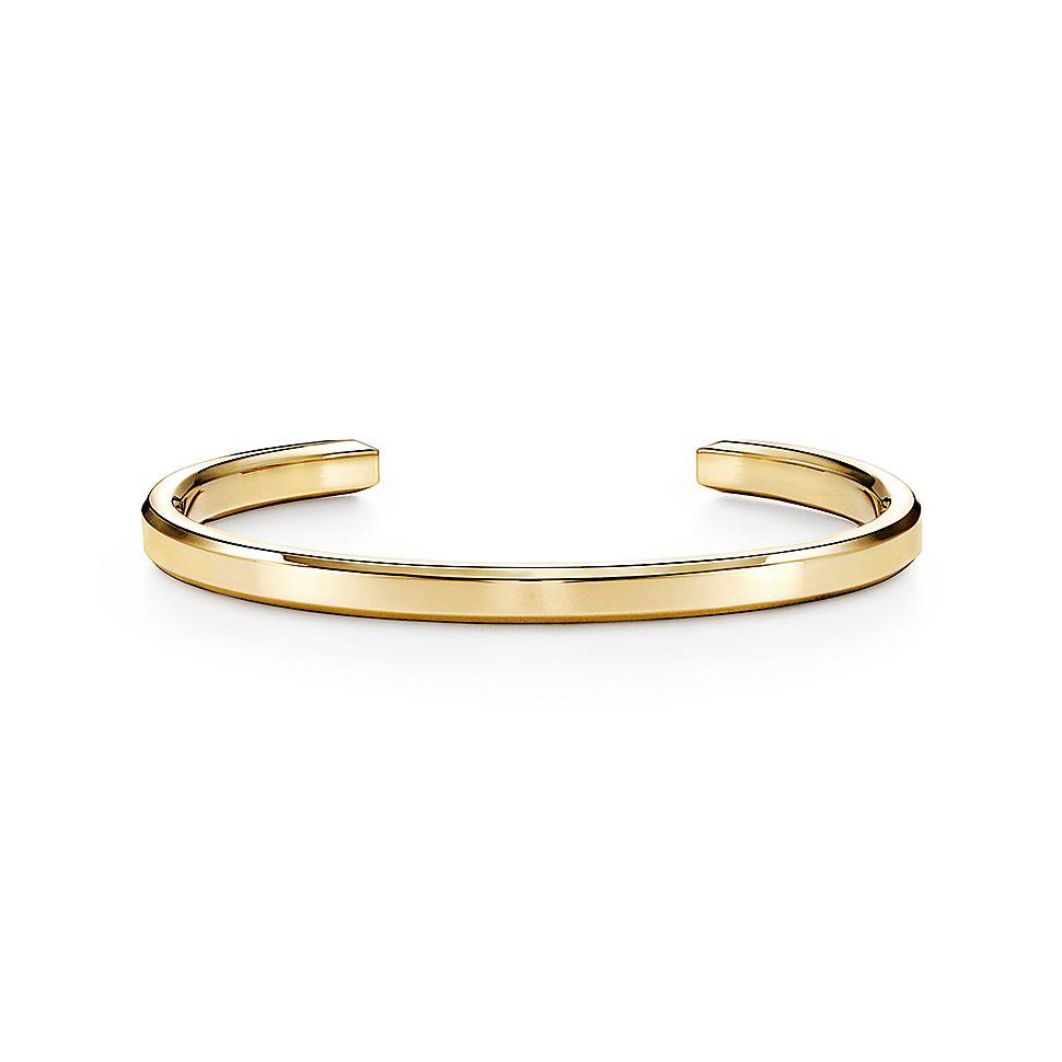 Tiffany 1837®        Makers Narrow Cuff In 18k Gold by Tiffany 1837®