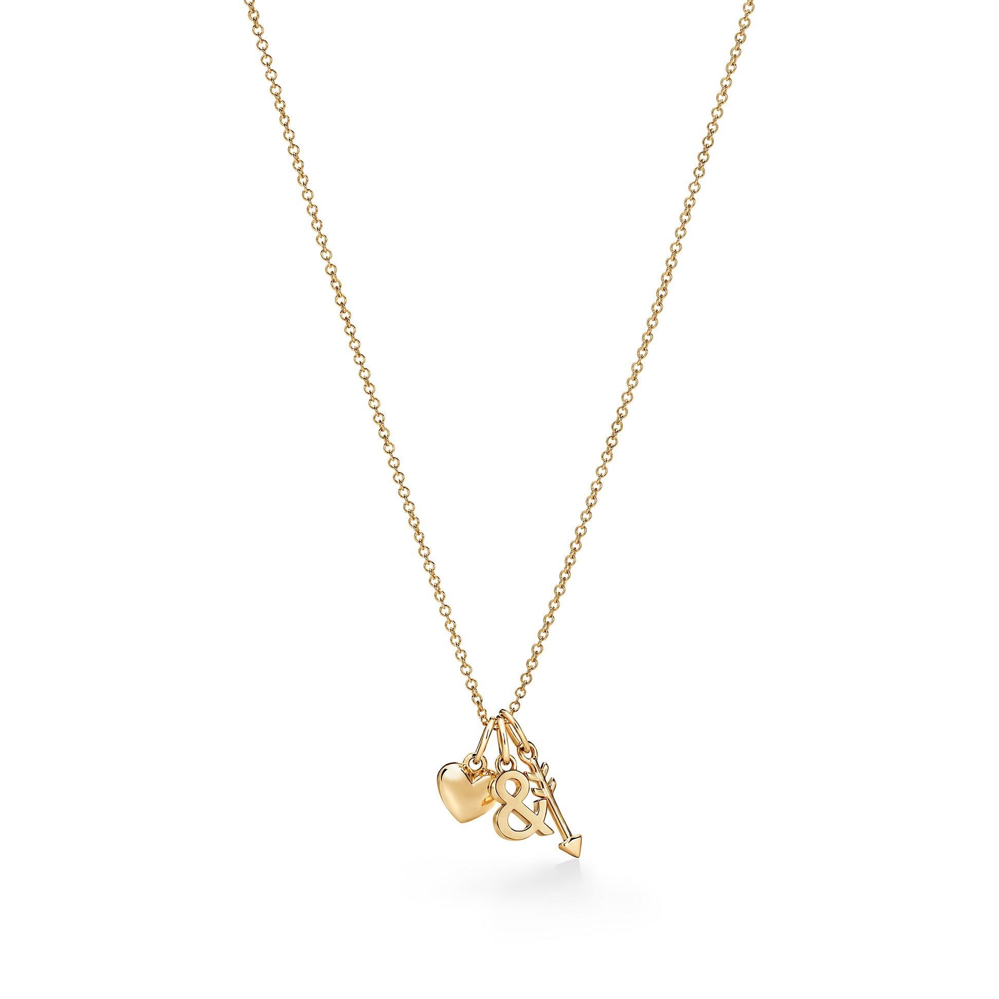 Tiffany & Love        Heart And Arrow Pendant In 18k Gold by Tiffany & Love