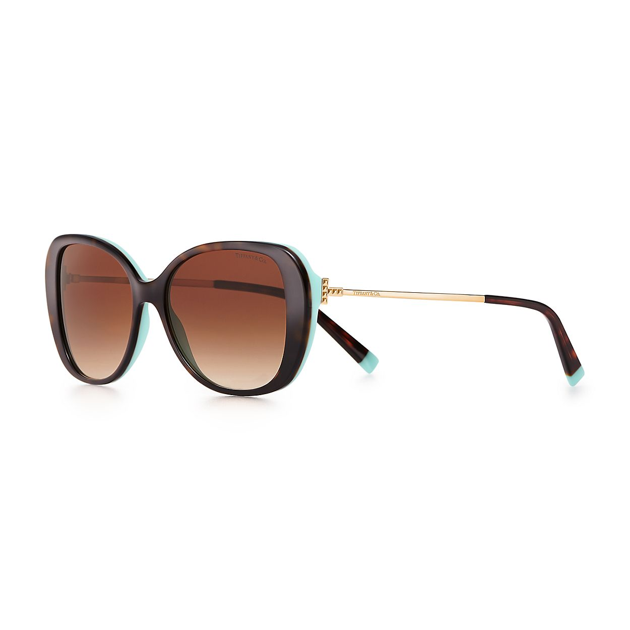 f3da82f7121 Tiffany T butterfly sunglasses in tortoise and Tiffany Blue® acetate ...