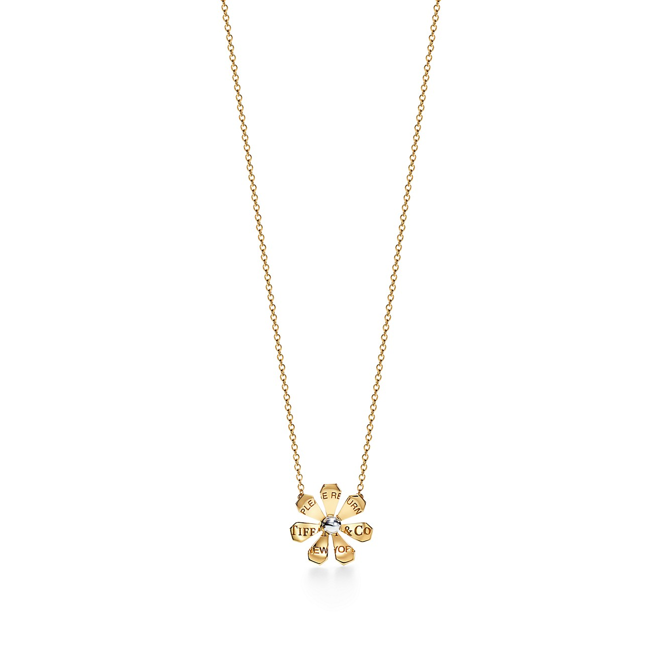 return-to-tiffany-love-bugs - -    daisy-pendant-in-18k-gold-and-sterling-silver by return-to-tiffany-love-bugs