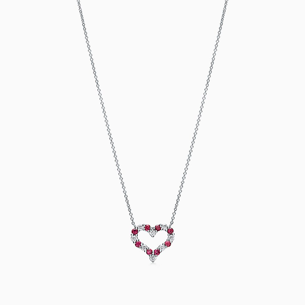 day fullxfull necklace howlite white s filigree il heart silver valentines products tassel large puffy long valentine