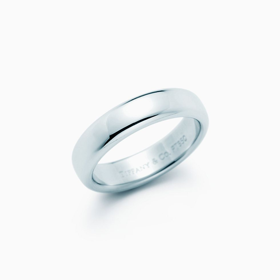 platinum product london company wedding ring in flat rounded band