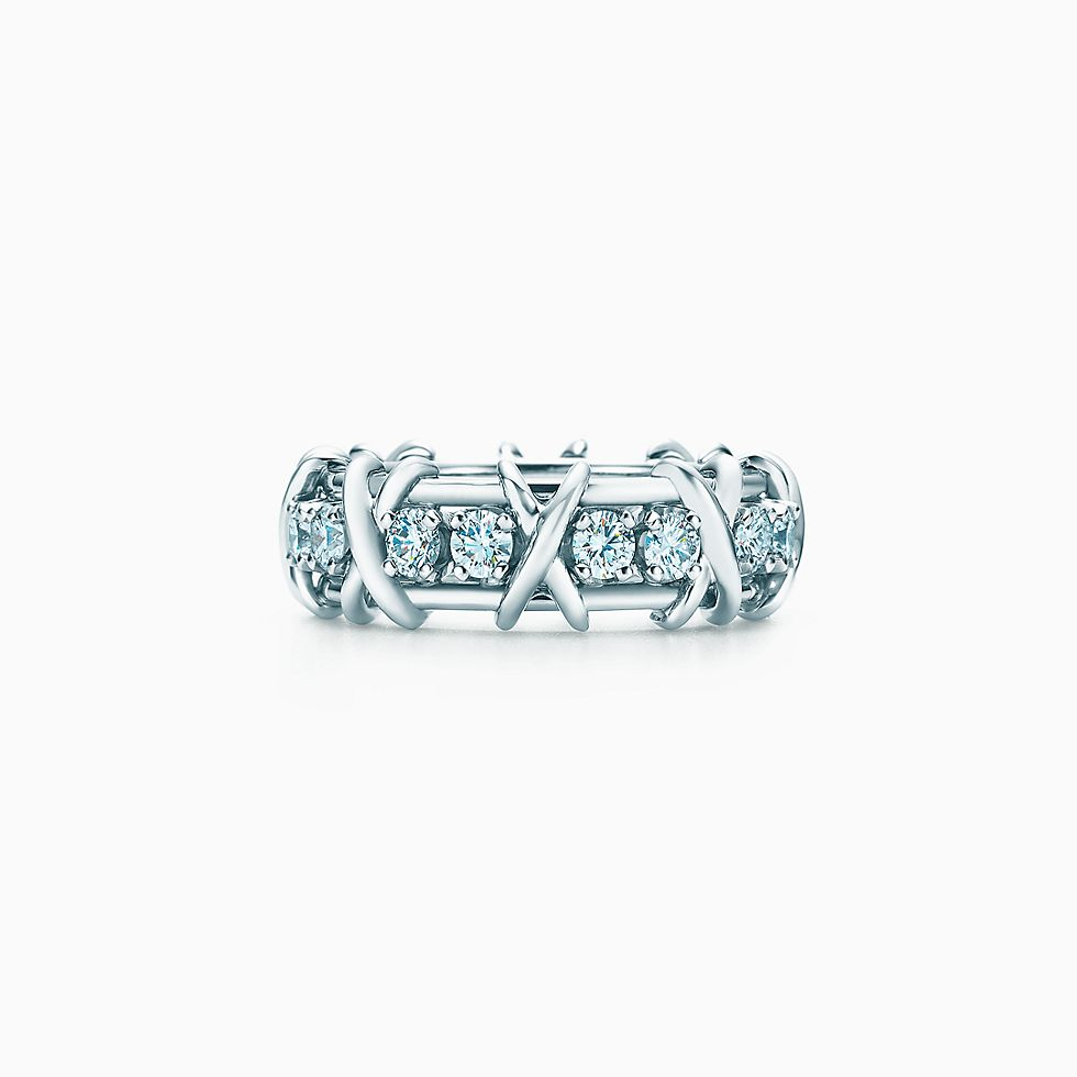 pt w round shared band in diamond bands platinum iadd prong cut eternity