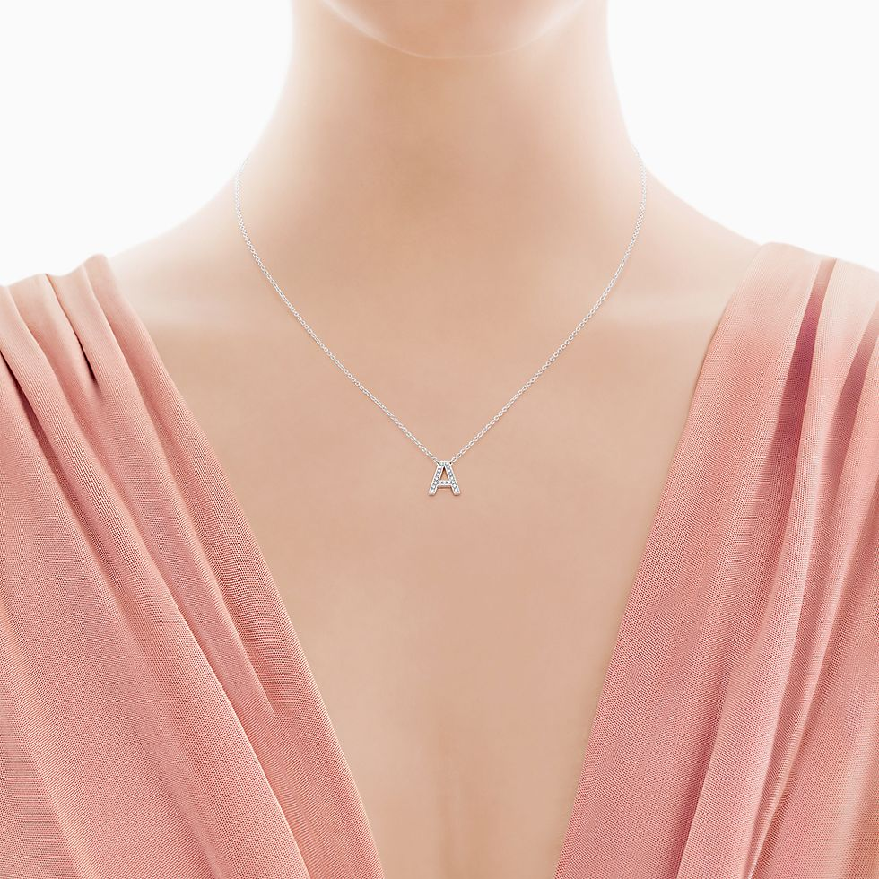 Tiffany Initial Pendant Necklace   Pendant Design Ideas