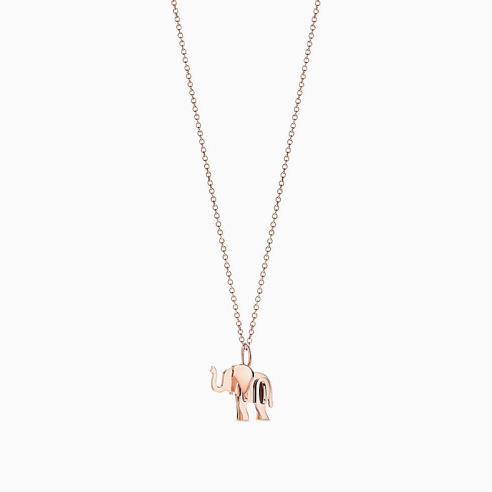 18k rose gold necklaces pendants tiffany co aloadofball Images