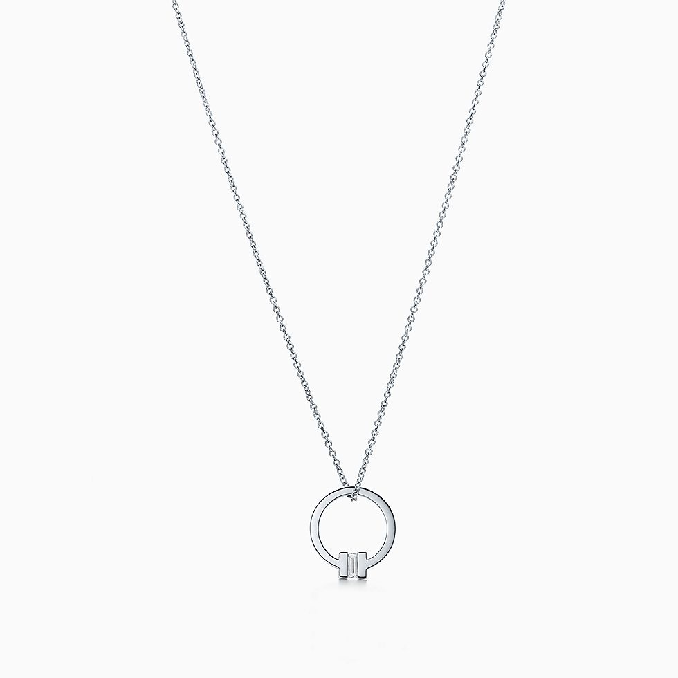 18k white gold necklaces pendants tiffany co aloadofball Image collections