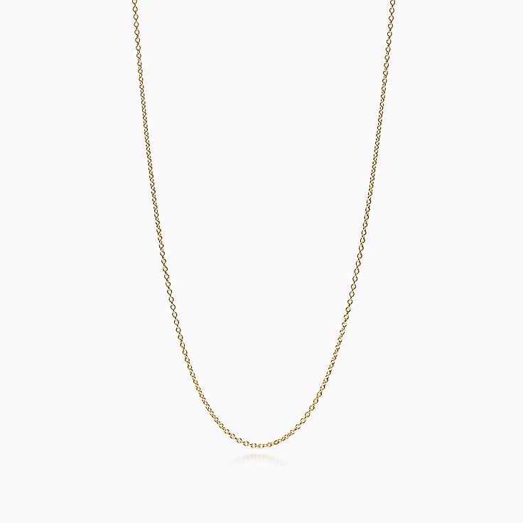 Shop 18k Gold Chain Necklace In 30 Length Tiffany Co