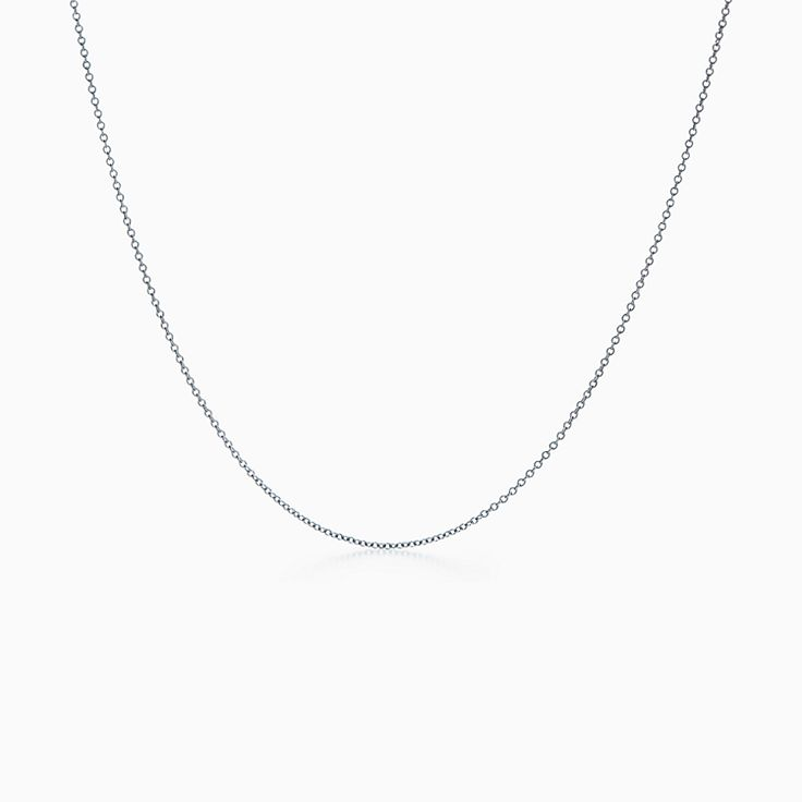Chain In 18k White Gold 18 Long Tiffany Co