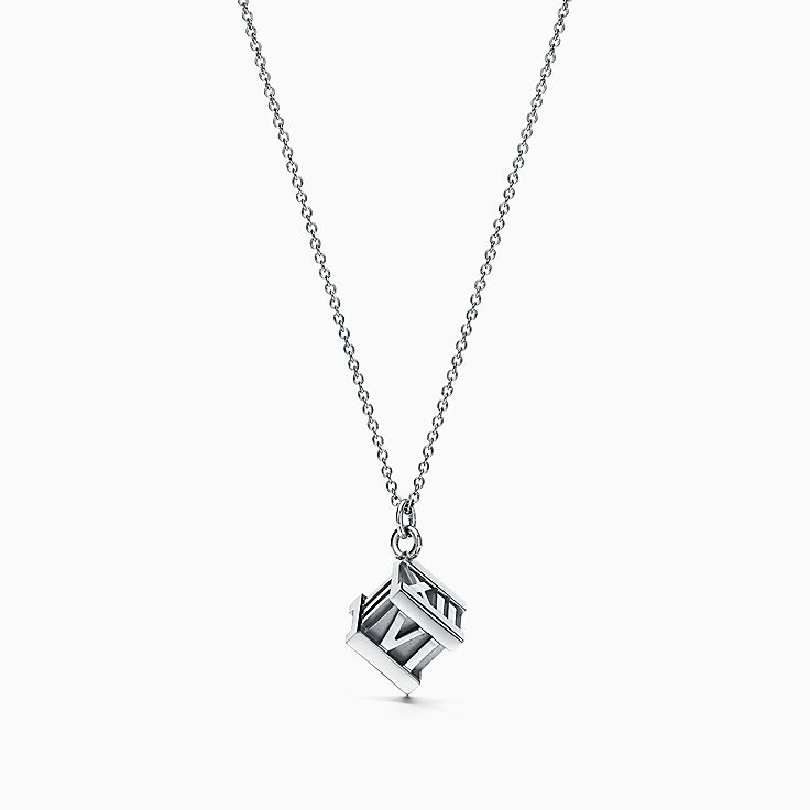 Beginnings Triple Cube Slider Necklace - Silver Silver (Colour) h8wDze