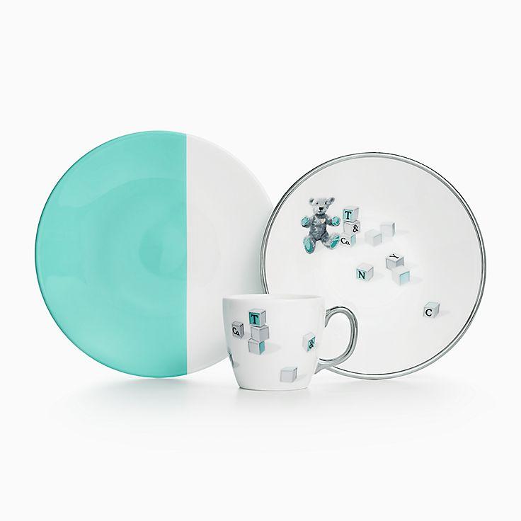 //media.tiffany.com/is/image/Tiffany/EcomBrowseM/bear-and-block-three-piece- set-60559880_973873_AV_1.jpg?op_usmu003d2.001.006.00u0026defaultImageu003d ...  sc 1 st  Tiffany & Baby Dinnerware Sets in Bone China | Tiffany u0026 Co.