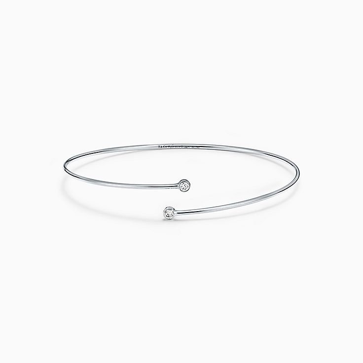 silver wedding platinum round fine bridal synthetic cut women bangles bracelet for in item plated diamond jewelry bracelets sterling from engagement