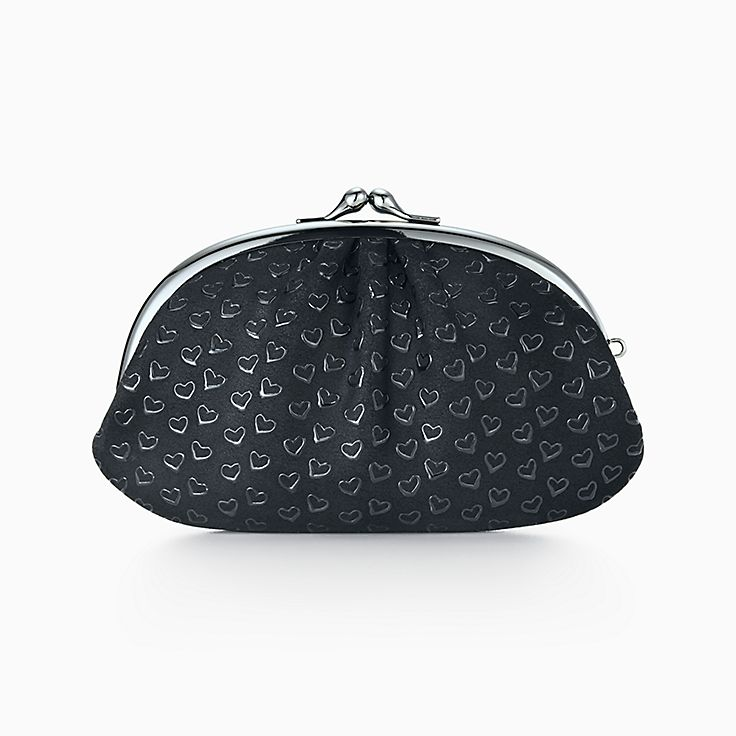 756d06ed6 Leather Backpack; aa4fcd92327c Elsa Peretti® coin purse in black leather  with lacquered Open Hearts.