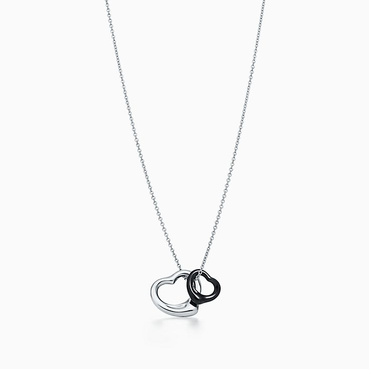 Elsa Peretti Snake pendant in sterling silver with black jade Tiffany & Co.