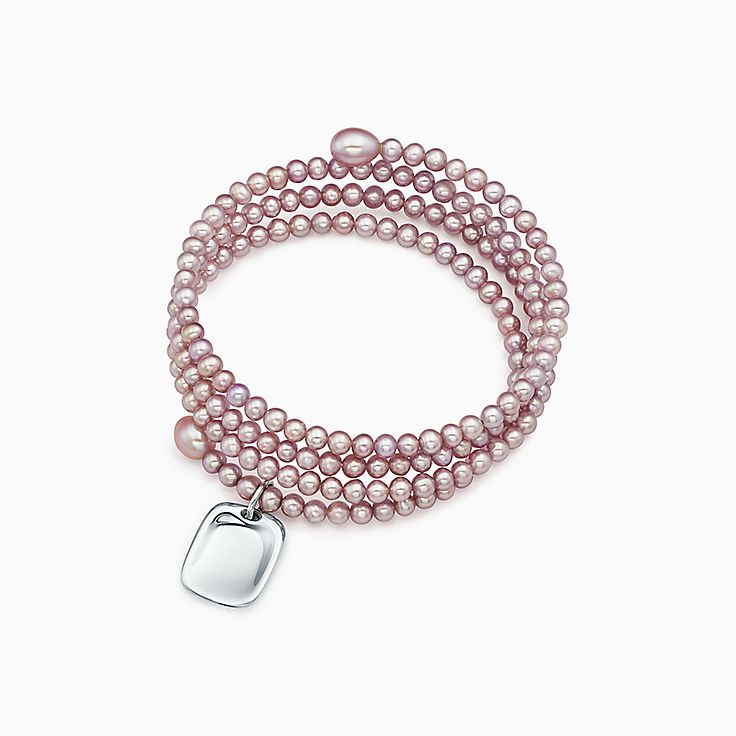 Elsa Peretti three-row pearl bracelet with sterling silver star charm, medium Tiffany & Co.