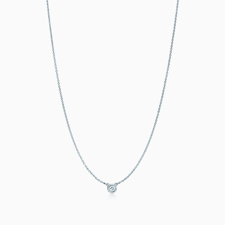 Diamond Gold Necklace 0.05CT Diamond Solitaire Necklace Jewelry Gift Birthday Gift Dainty Diamond Necklace Bezel Diamond Necklace