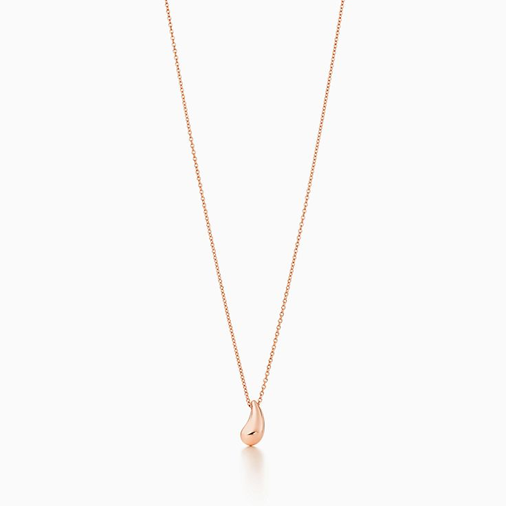 a49eda03c Elsa Peretti® Teardrop pendant in 18k rose gold. | Tiffany & Co.