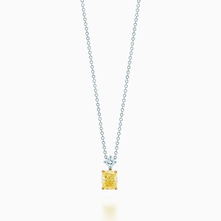 Necklaces pendants tiffany co lucida pendant in platinum and 18k gold with a tiffany yellow diamond mozeypictures Image collections