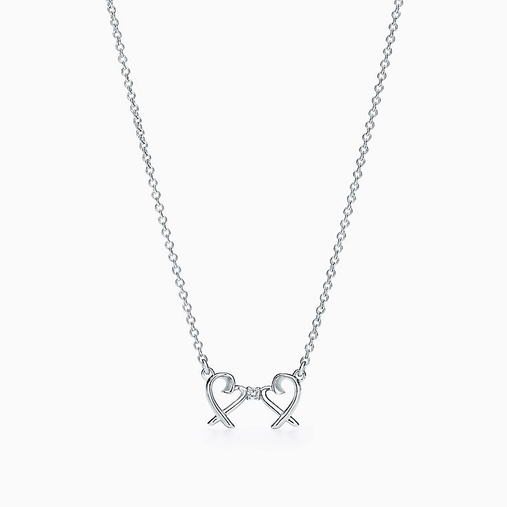 Sterling silver necklaces pendants tiffany co httpsmediatiffanyisimagetiffanyecombrowsempaloma picasso double loving heart pendant 63058211986328sv1gopusm100100 aloadofball Gallery