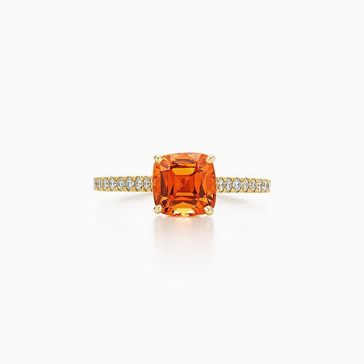 ティファニー レガシー™:オレンジ スペサタイト リング