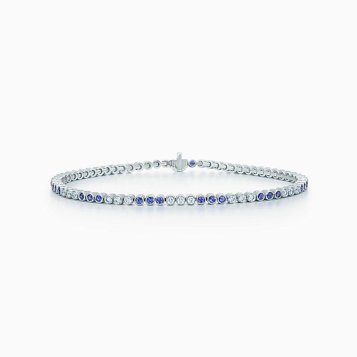ティファニー ジャズ™:ダイヤモンド サファイヤ ブレスレット