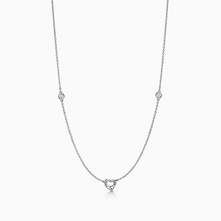 エルサ・ペレッティ®:ダイヤモンド バイ ザ ヤード®オープ ンハート ネックレス