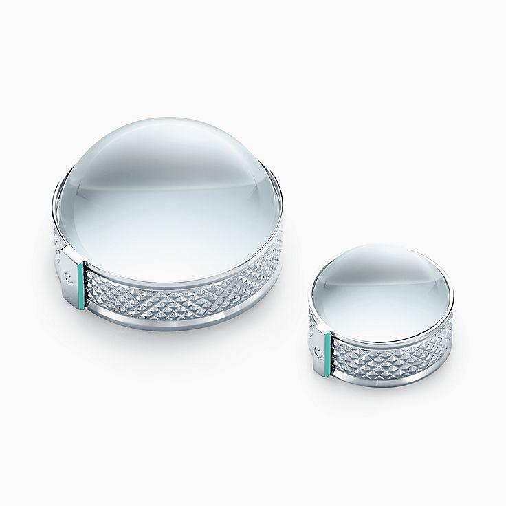 Предметы обихода: пресс-папье/увеличительное стекло из стерлингового серебра