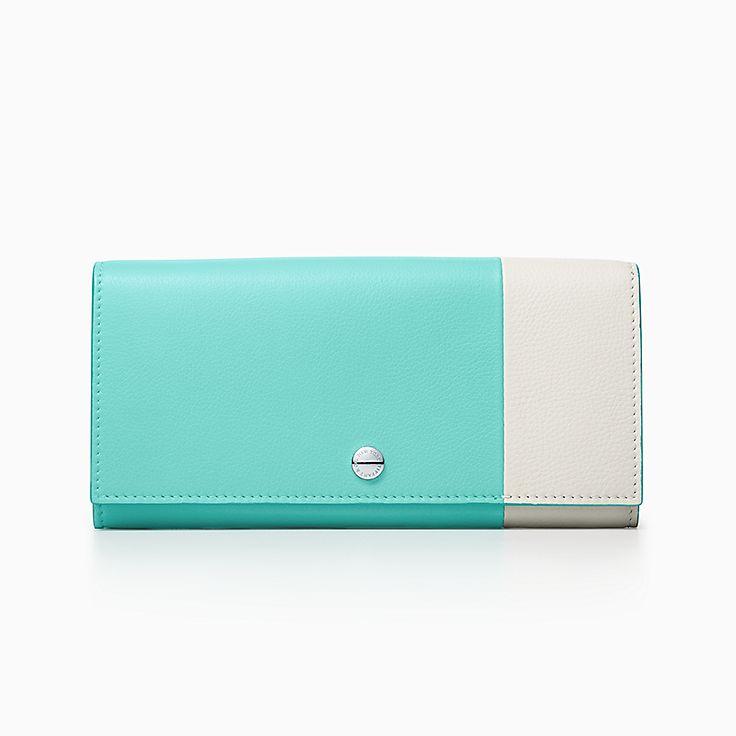 컬러 블록:콘티넨탈 플랩 지갑