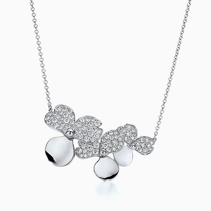 ティファニー ペーパーフラワー:ダイヤモンド クラスター ペンダント