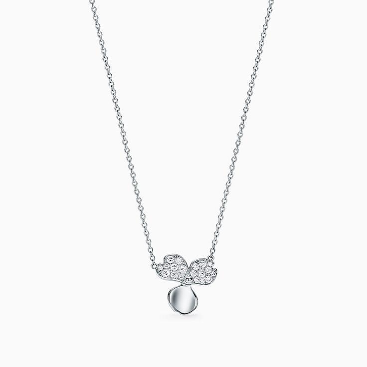 ティファニー ペーパーフラワー:ダイヤモンド フラワー ペンダント