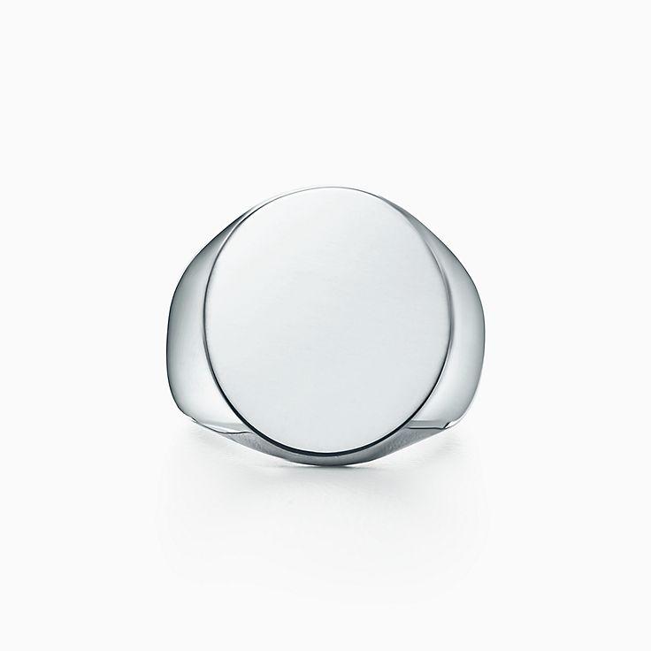 Anello con sigillo ovale