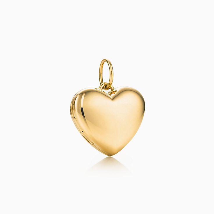 Berloque de relicário em forma de coração