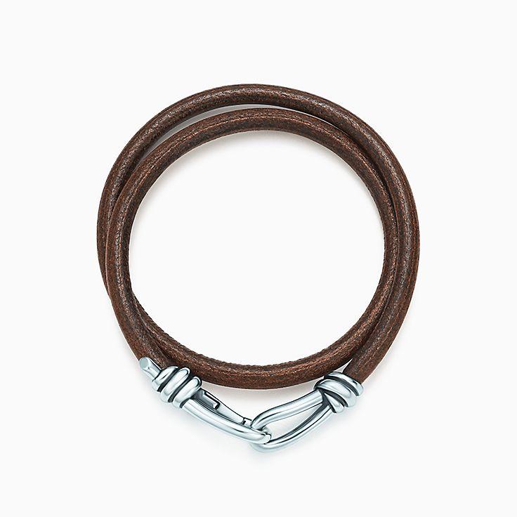 Bracciale Knot in pelle intrecciata a doppio giro. Collezione Paloma Picasso®