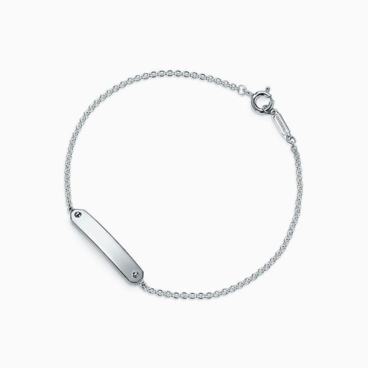 Bracelet chaîne à plaque